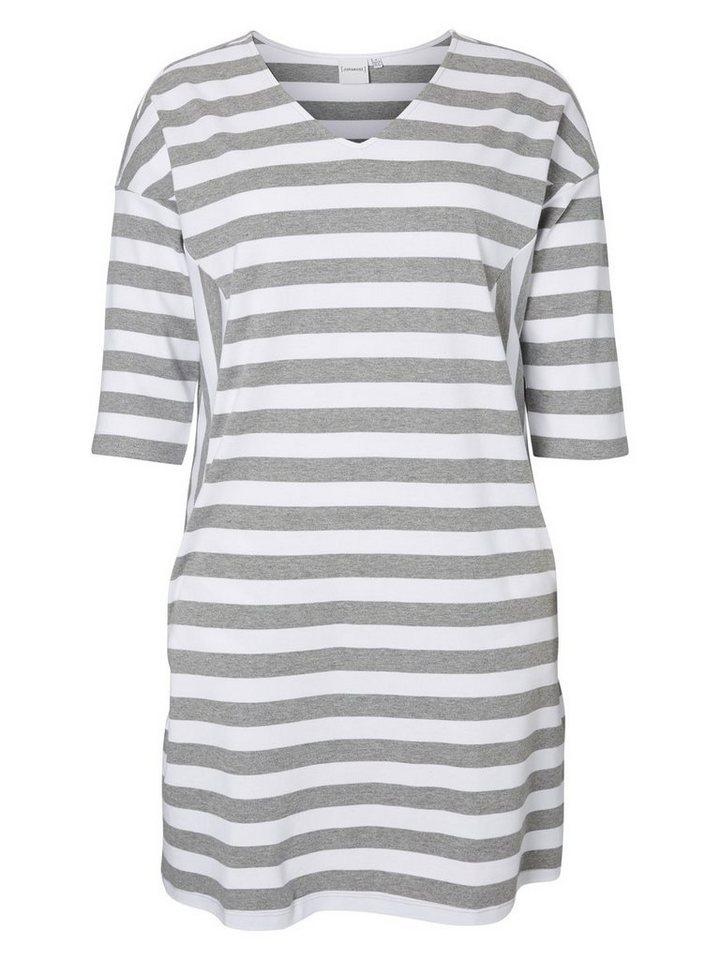 JUNAROSE Formgebendes Kleid in Light Grey Melange