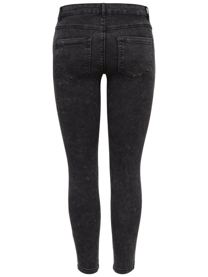 Only Royal reg ankle zip Skinny Fit Jeans in Black