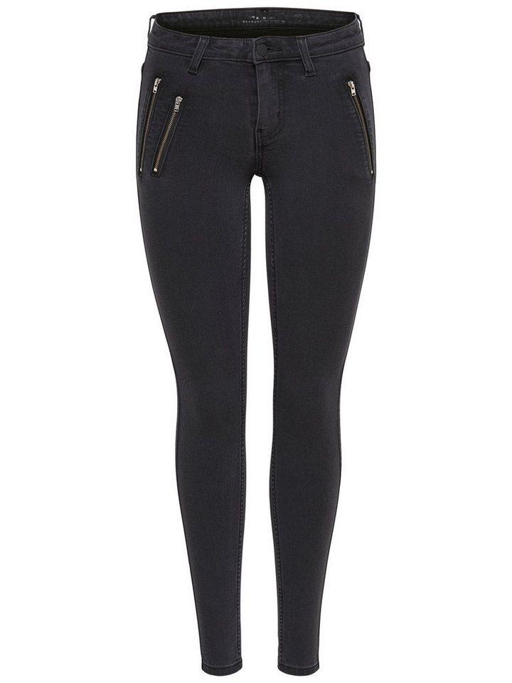 Only Eternal reg zip Skinny Fit Jeans in Grey Denim