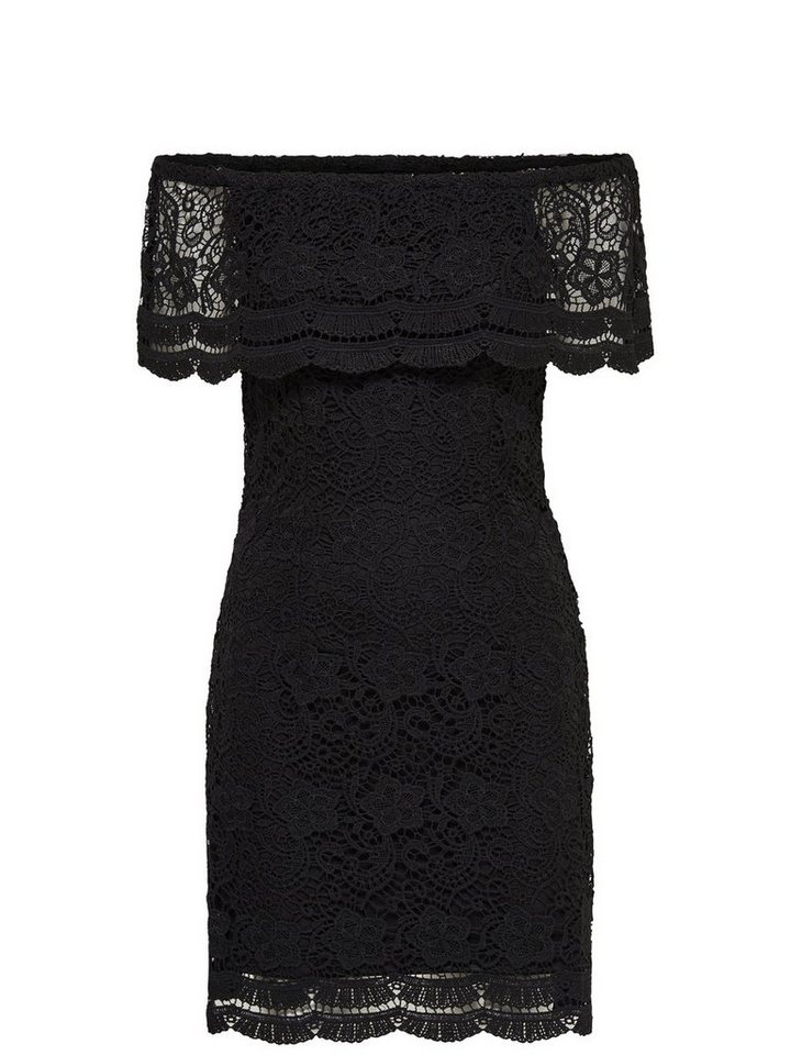 Only Off-Shoulder- Kurzkleid in Black