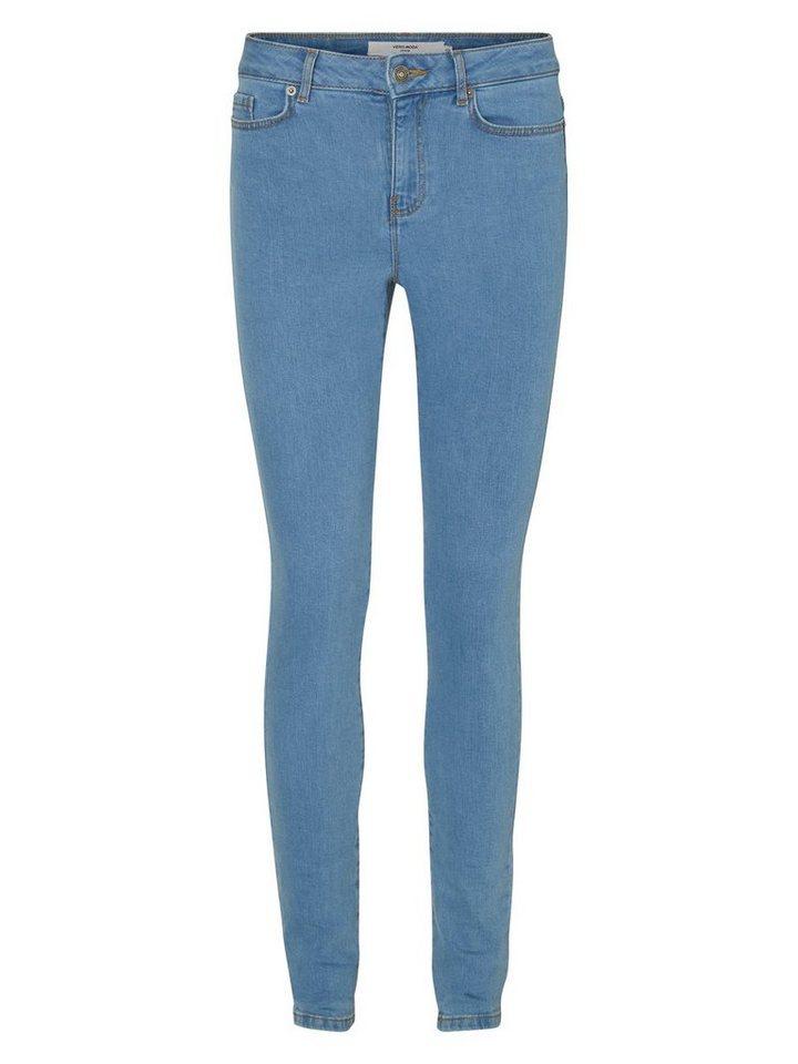 Vero Moda Seven NW Skinny Fit Jeans in Light Blue Denim