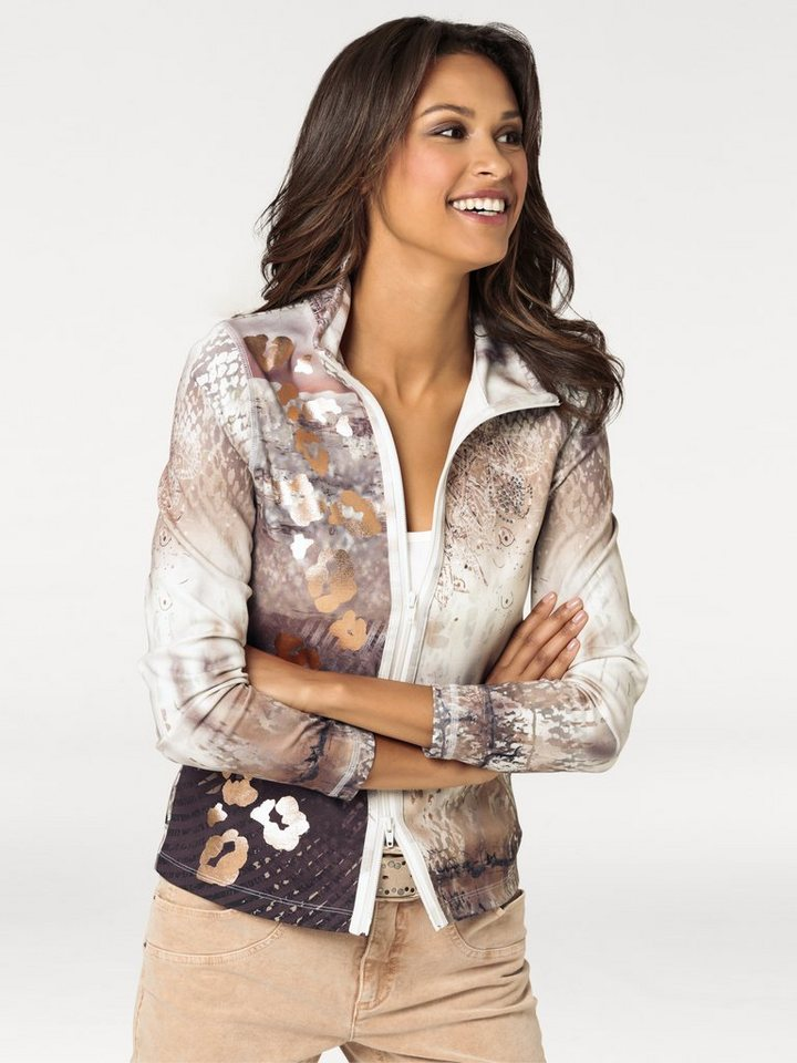 Shirtjacke in apricot