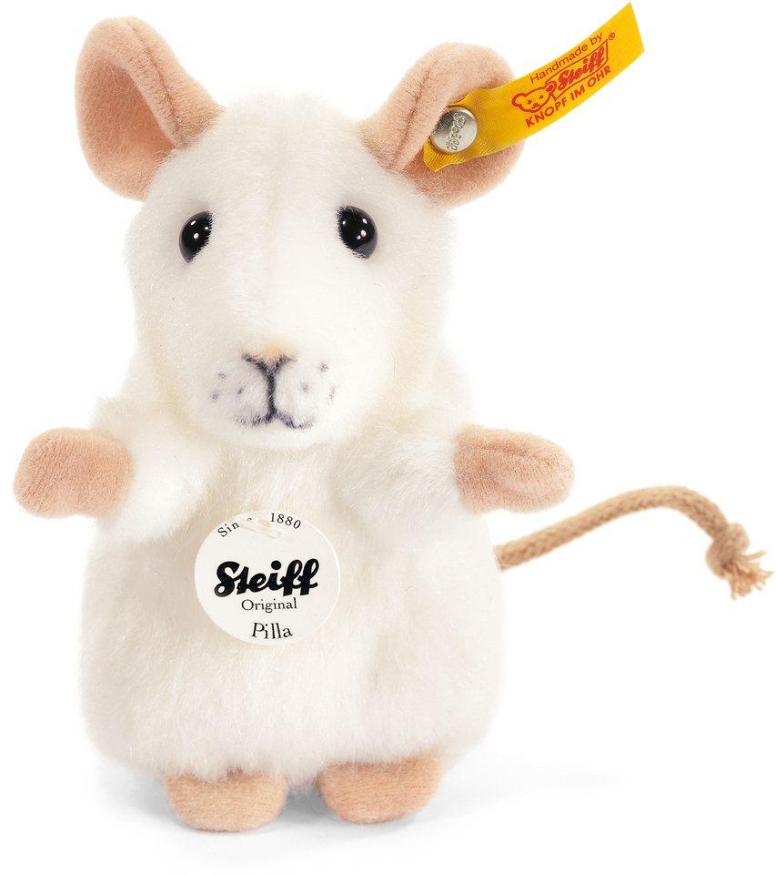 Steiff Plüschtier, »Pilla Maus weiss, 10 cm«