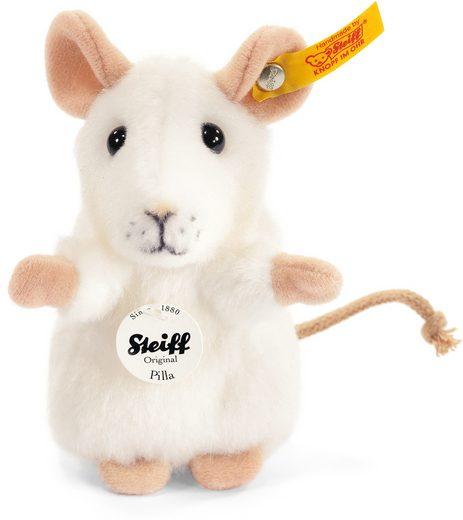 Steiff Kuscheltier »Pilla Maus weiß, 10 cm«