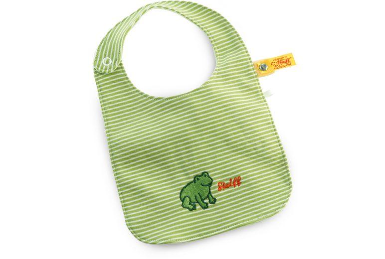 Steiff Babylätzchen im Streifendesign, »Fabio Frosch«