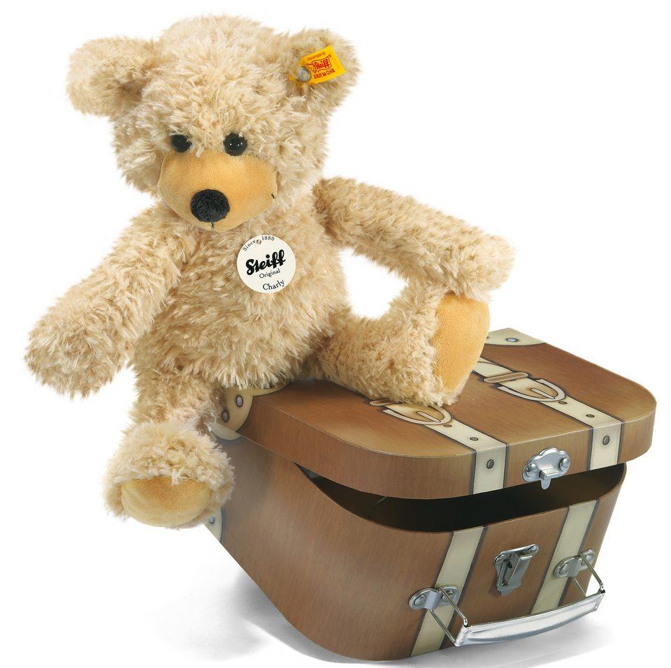 Steiff Plüschtier Teddy, »Charly im Koffer, 30 cm«