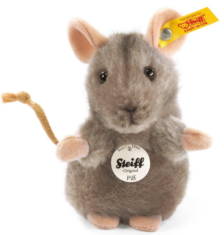 Steiff Plüschtier, »Piff Maus grau, 10 cm«