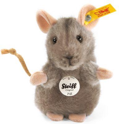 Steiff Kuscheltier »Piff Maus grau, 10 cm«