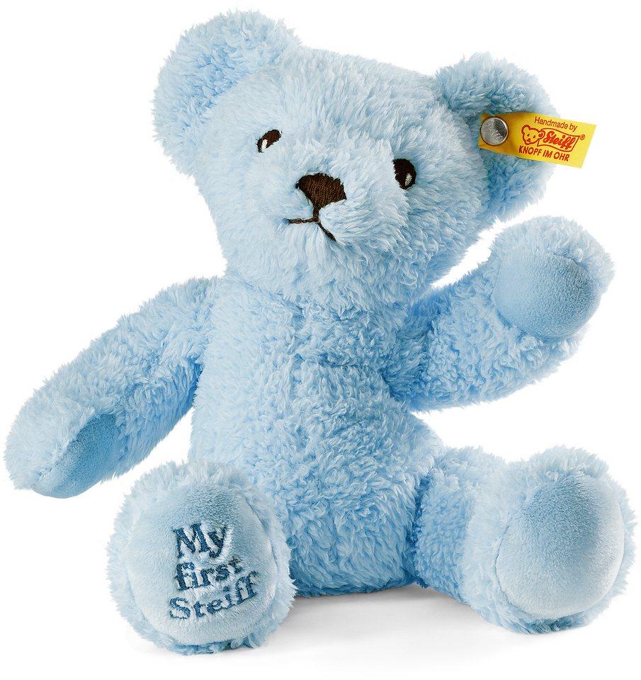 Steiff Plüschtier, »Teddy MyFirst hellblau sitzend, 24 cm«