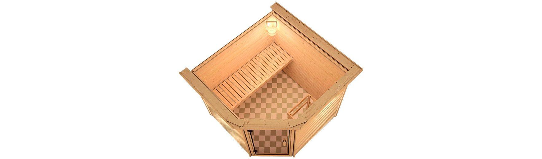 Sauna »Ivan«, 196/196/187cm, 38mm, 9-KW-Bio-Kombiofen ext. Steuerung