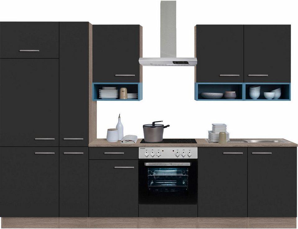optifit k chenzeile mit e ger ten korfu breite 300 cm. Black Bedroom Furniture Sets. Home Design Ideas