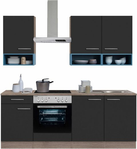 OPTIFIT Küchenzeile »Korfu«, ohne E-Geräte, Breite 210 cm