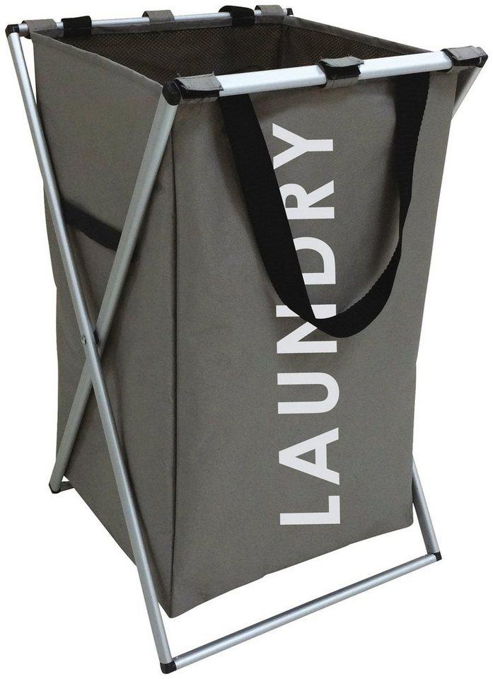 MSV Wäschesammler »LAUNDRY« in grau