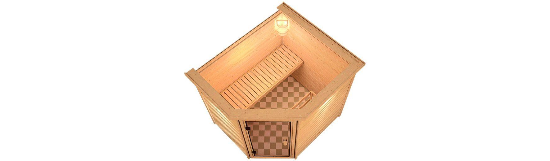 Sauna »Ellen«, 196/170/187cm, 38mm, 9-KW-Bio-Kombiofen ext. Steuerung