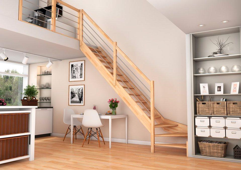 raumspartreppe paris 1 4 gewendelt unten links mit geschlossenen setzstufen buchenholz. Black Bedroom Furniture Sets. Home Design Ideas