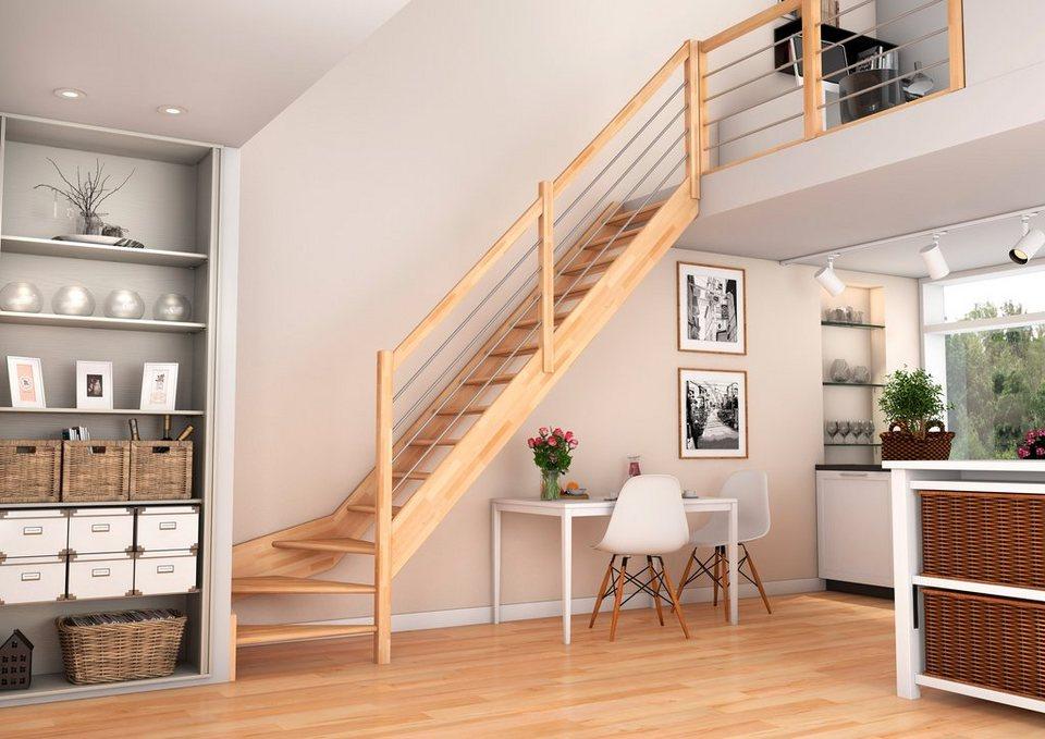 raumspartreppe paris 1 4 gewendelt unten rechts mit offenen setzstufen buchenholz online. Black Bedroom Furniture Sets. Home Design Ideas