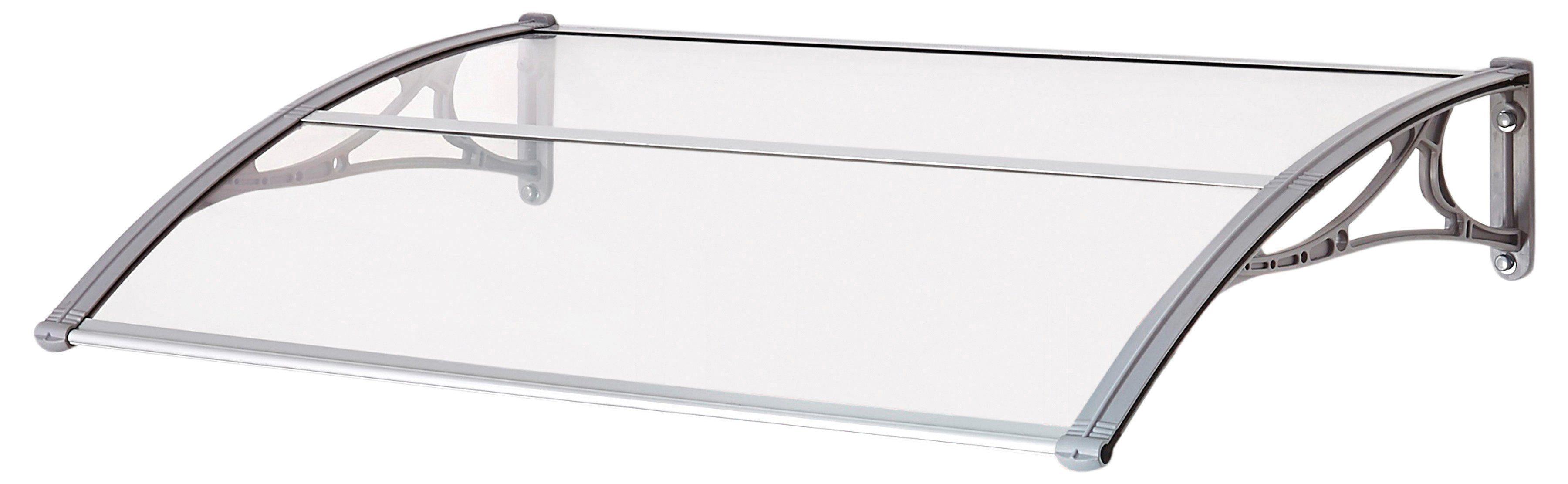 SUPERROOF Vordach »EMMA 1400«, B/T/H: 140/74/21 cm, grau