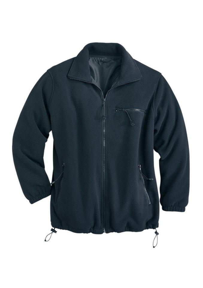 Fleece-Jacke in schwarz