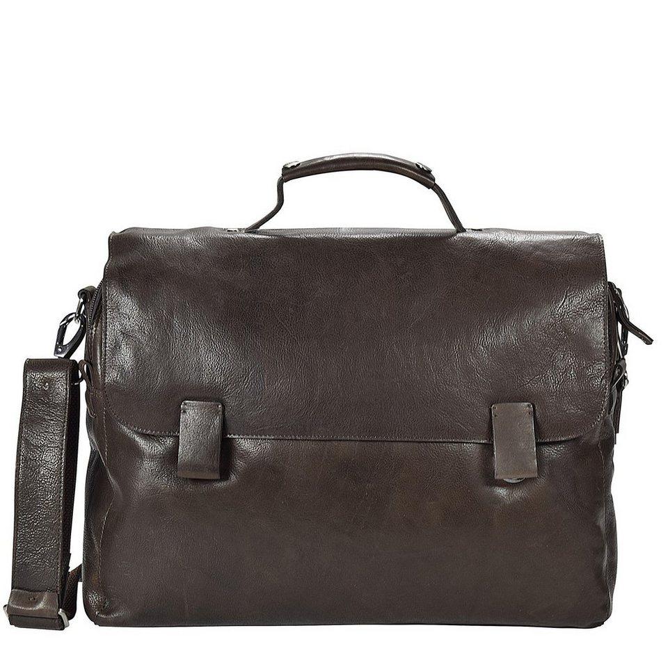 Harold's Dean Aktentasche Leder 40 cm Laptopfach in braun