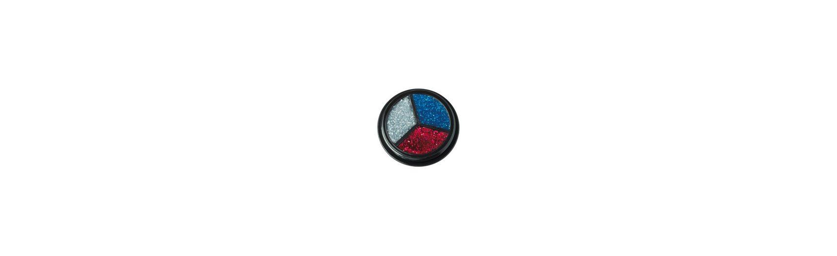 Rubie´s Trio Glitter silber-rot-blau