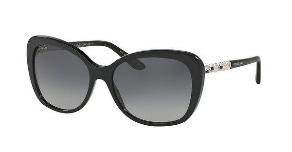 Bvlgari Damen Sonnenbrille » BV8179KB« in 5190T3 - schwarz/grau