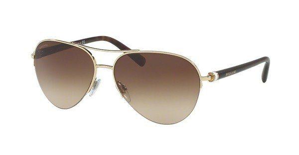 Bvlgari Damen Sonnenbrille » BV6084« in 278/13 - gold/braun