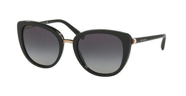 Bvlgari Damen Sonnenbrille » BV8177« in 501/8G - schwarz/grau