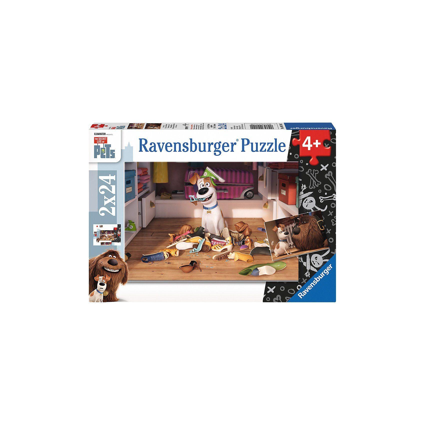 Ravensburger Puzzleset 2 x 24 Teile Pets - Sturmfrei