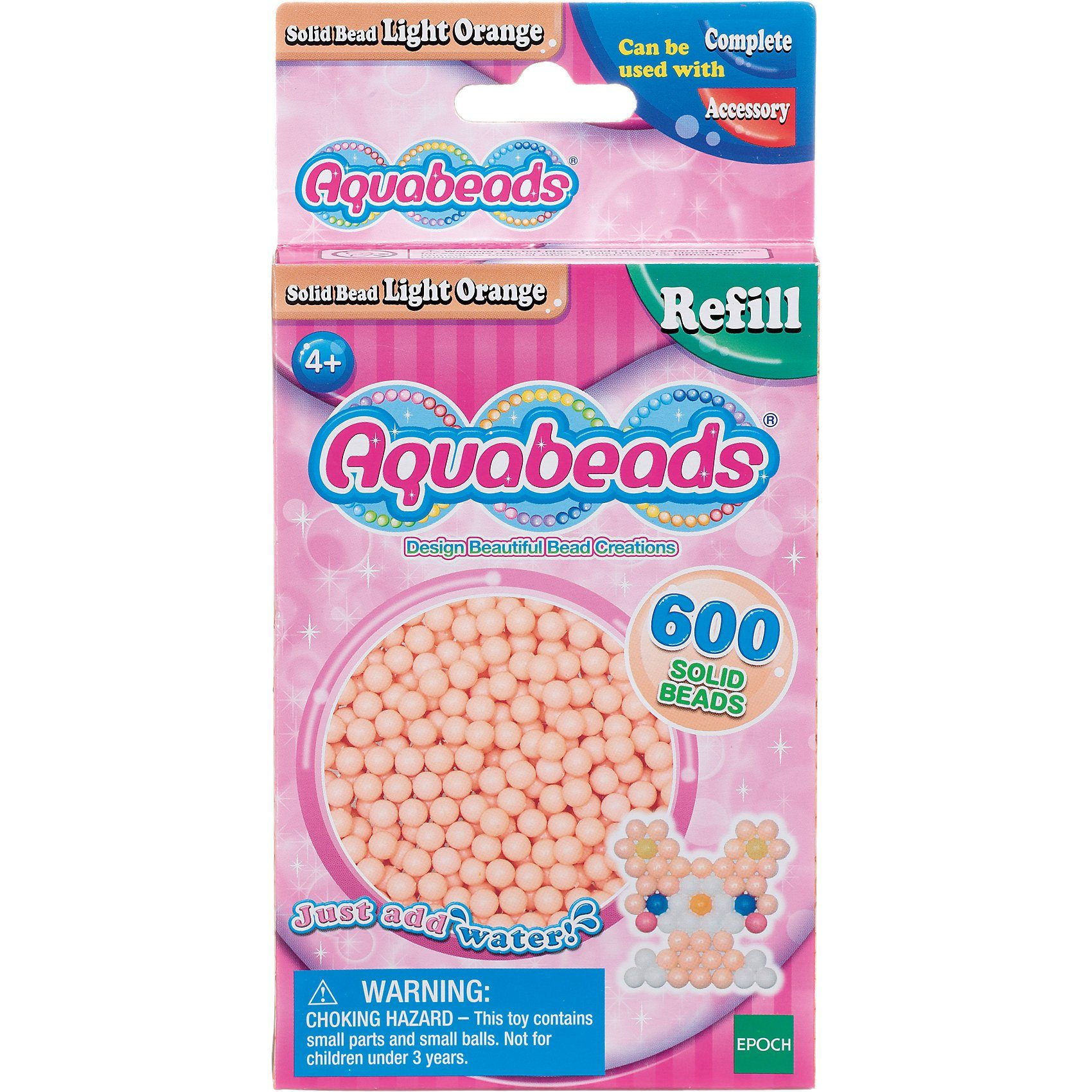Epoch Traumwiesen Aquabeads Nachfüllpack Hell-Orange Perlen