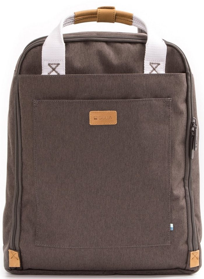 Golla Rucksack mit Laptopfach, »Orion Mud« in mud