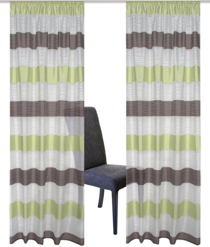 gardine, home wohnideen, »sarnias«, mit kräuselband (2 stück, Wohnideen design