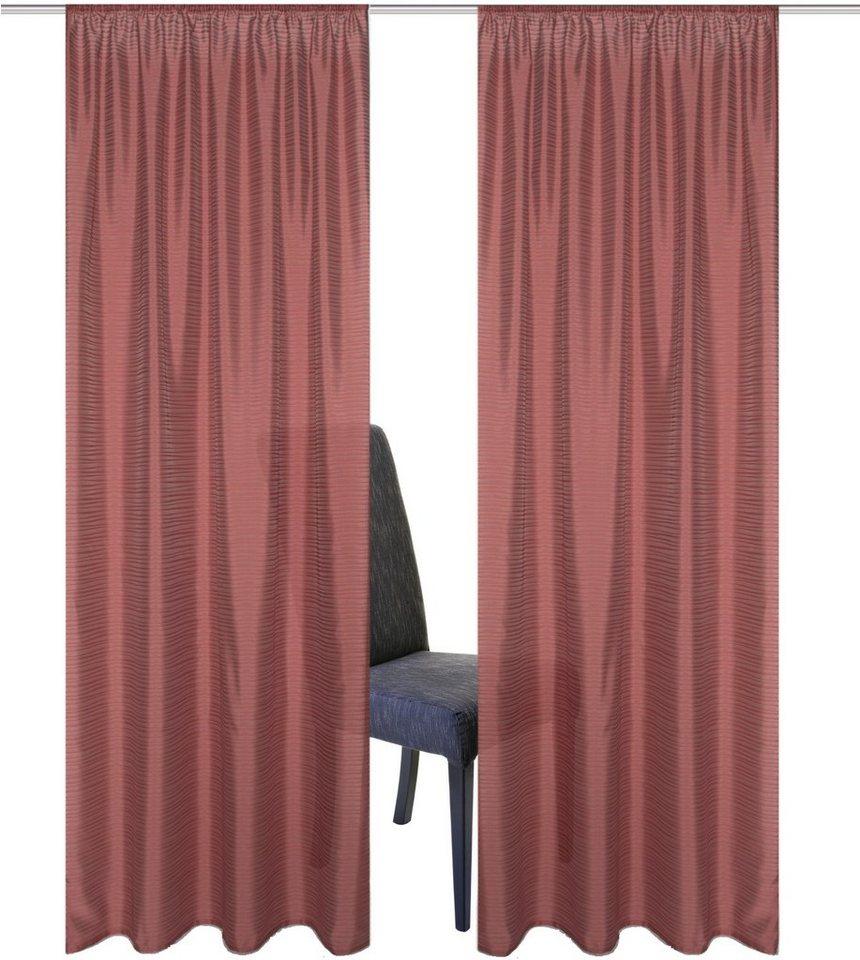 Vorhang, Home Wohnideen, »SARNIAS« (2 Stück) in marsala