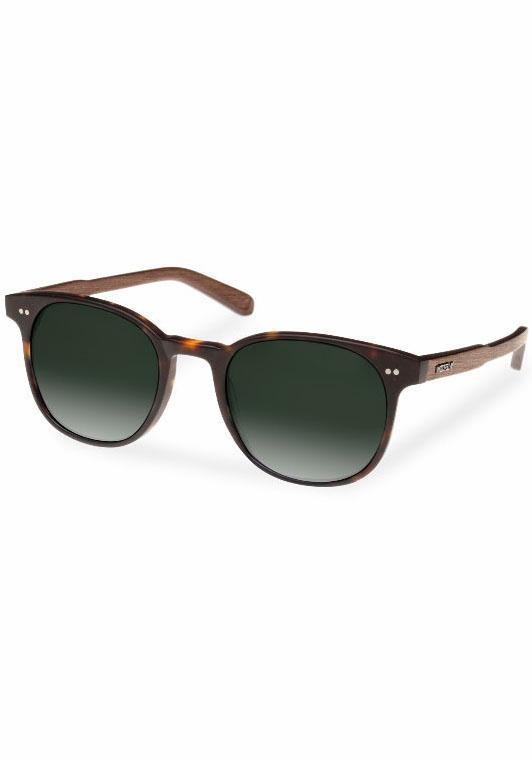 WOOD FELLAS Sonnenbrille im edlen Look in braun-grün