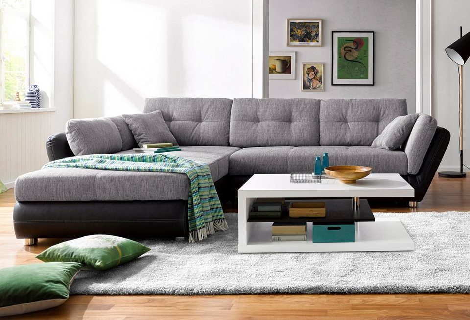 ecksofa eckcouch kaufen mit ohne schlaffunktion otto. Black Bedroom Furniture Sets. Home Design Ideas