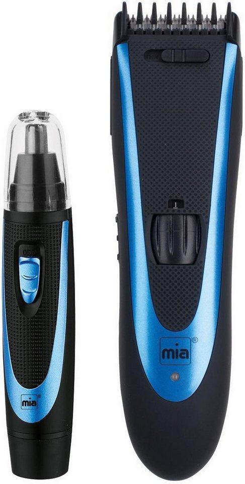 Mia, Duo Trimmer Haar- und Bartschneider-Set HC 0274B+NT, mit Nasen-/Ohrhaartrimmer in blau/schwarz