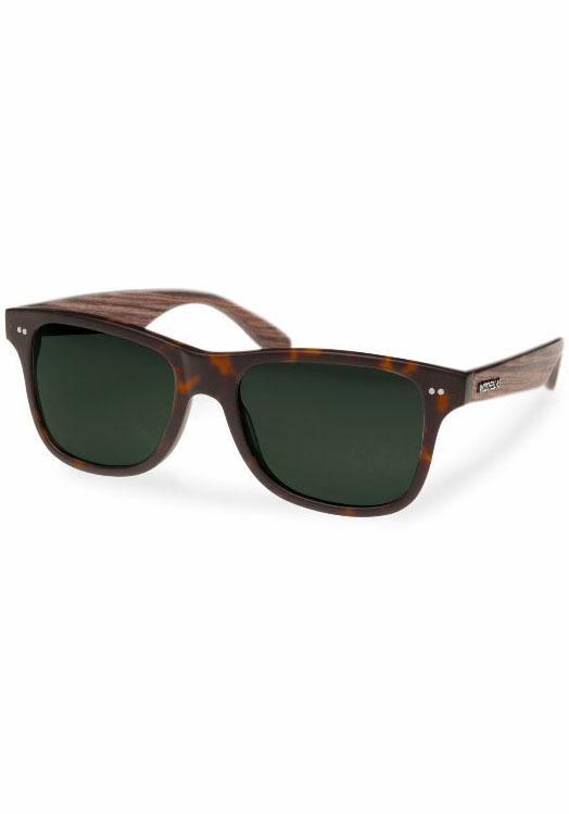 WOOD FELLAS Sonnenbrille in coolem Design in braun-grün
