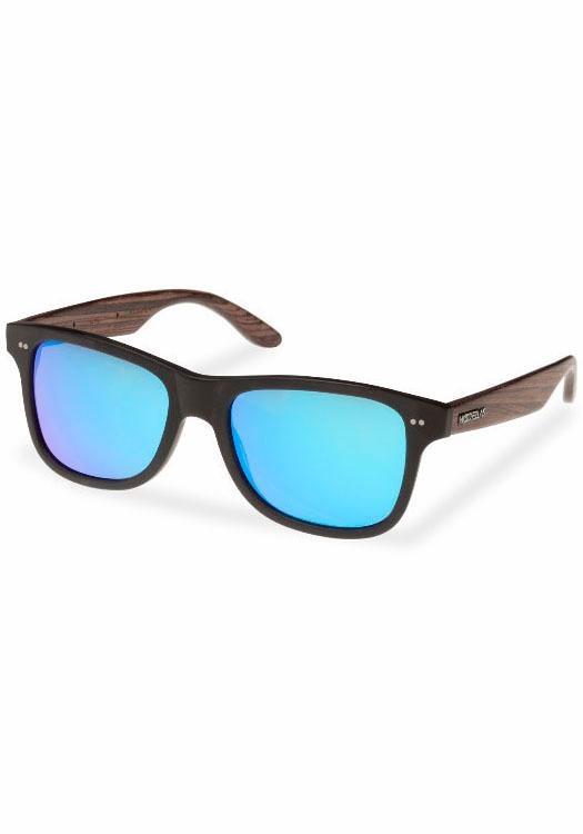 WOOD FELLAS Sonnenbrille in coolem Design in schwarz-blau