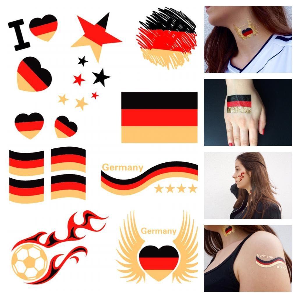 Schmuck-Tattoos, »Deutschland«, Tattoos zum Aufkleben für die Fußball-EM 2016