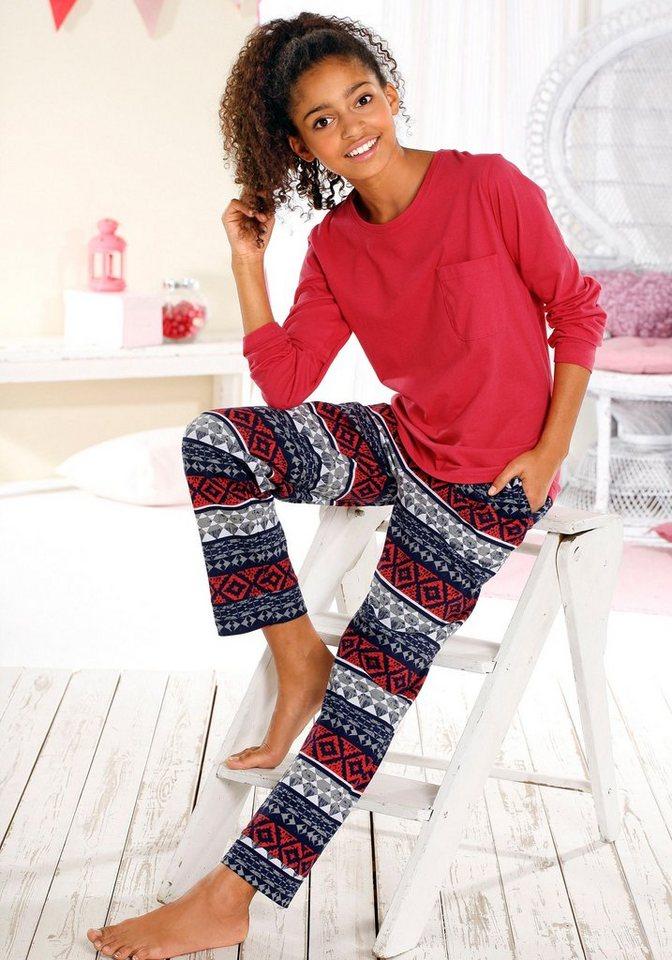 Buffalo Pyjama in rot bedruckt