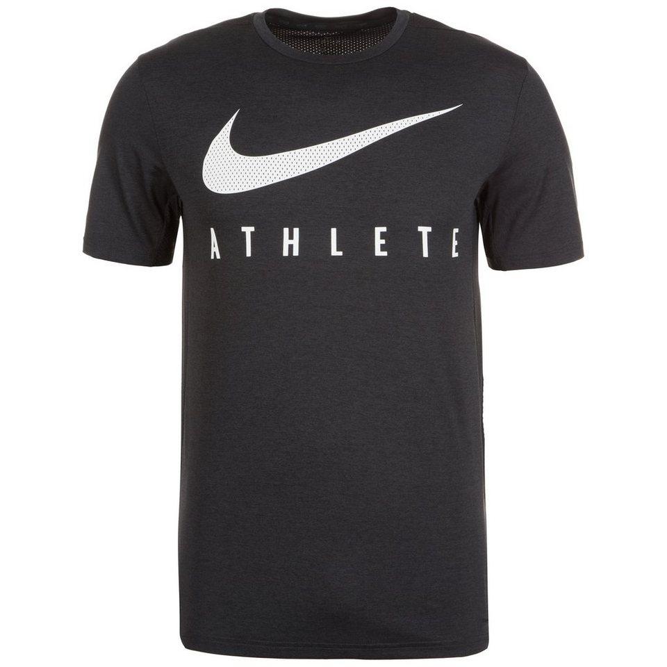 NIKE Touch Plus Trainingsshirt Herren in anthrazit / weiß