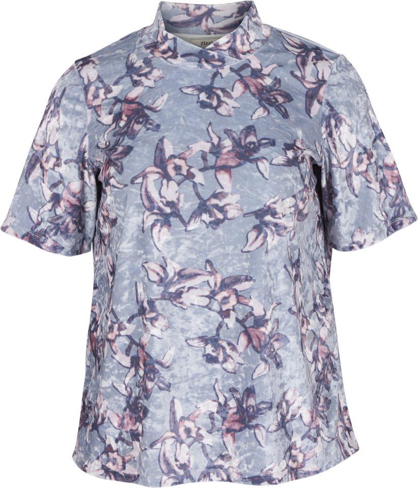 Zizzi T-Shirt in Grey combo