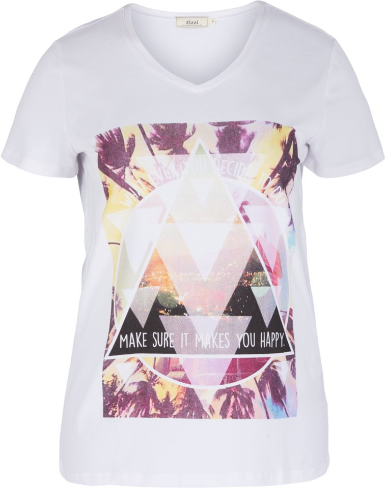 Zizzi T-Shirt in Bright White