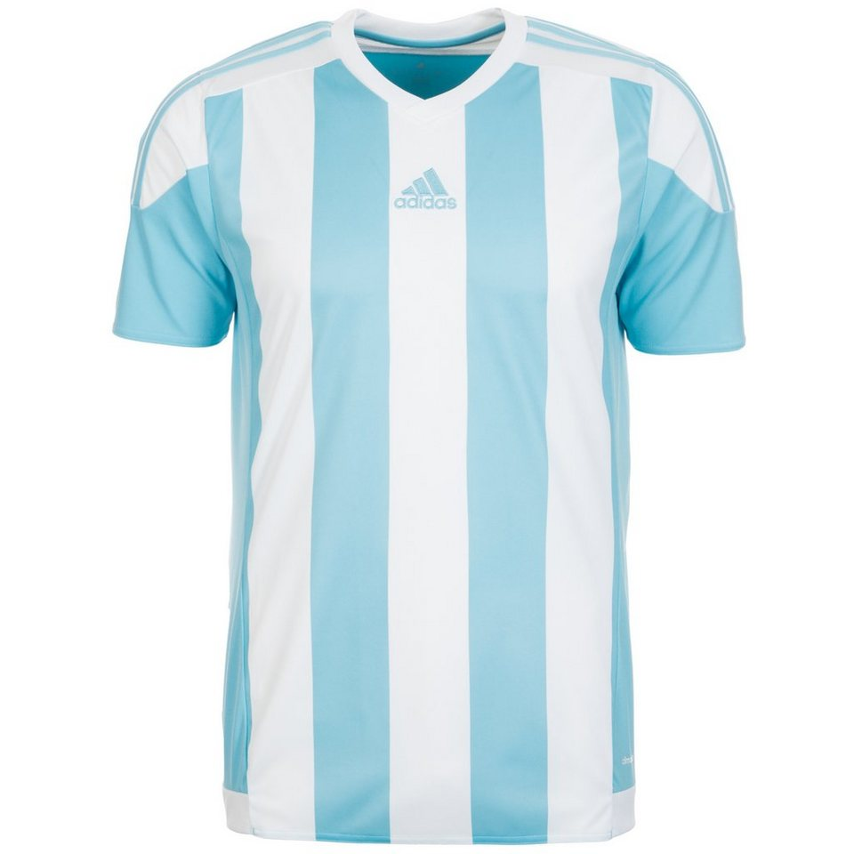 adidas Performance Striped 15 Fußballtrikot Herren in hellblau / weiß