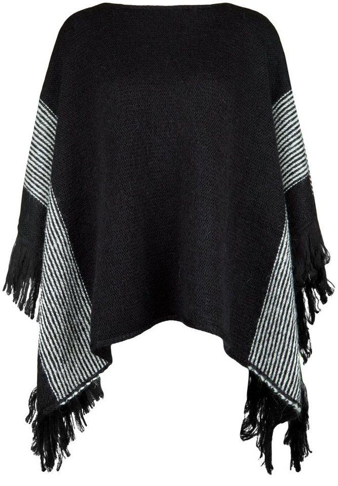 REPLAY Ponchopullover »MIT FRANSEN« in black