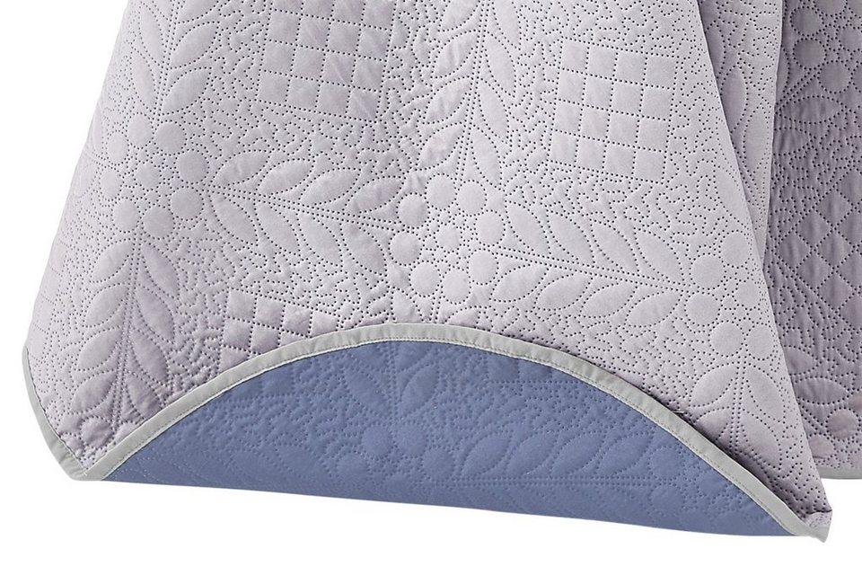 Sofaüberwurf in flieder/blau