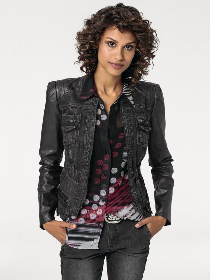 Jeansjacke in black denim
