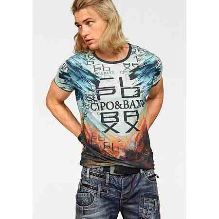 Cipo & Baxx T-Shirt mit schönem Muster