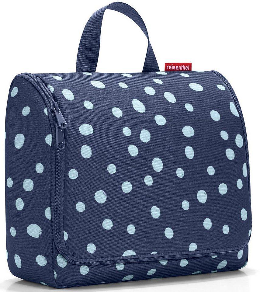 reisenthel® Kosmetiktasche spots navy, »toiletbag XL« in blau/weiß