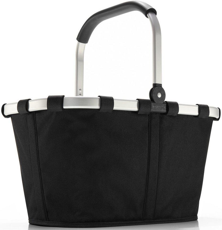 reisenthel® Einkaufskorb black, »carrybag« in schwarz/silberfarben