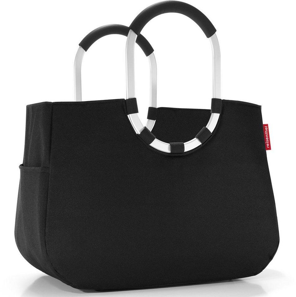 reisenthel® Stadttasche black, »loopshopper L« in schwarz/silberfarben
